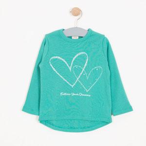 Kız Çocuk Uzun Kol Tişört Yeşil (3-12 yaş)