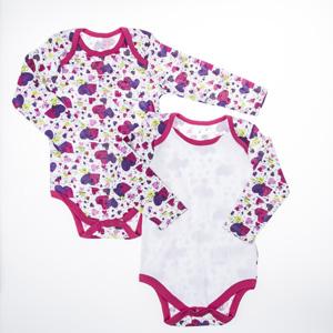 Kız Bebek İkili Badi Fuşya (0-2 yaş)