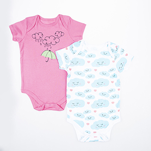 Kız Bebek İkili Badi Pembe (0-2 yaş)
