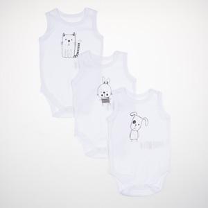 Kız Bebek Üçlü Badi Beyaz (0-2 yaş)