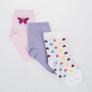 Kız Bebek Üçlü Bilek Üstü Çorap Pembe (17-22 numara)