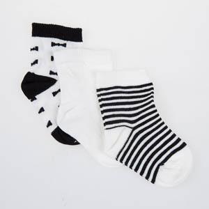 Kız Bebek Üçlü Bilek Üstü Çorap Beyaz (17-22 numara)