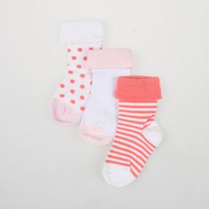 Kız Bebek Üçlü Bilek Üstü Çorap Beyaz (14-16 numara)
