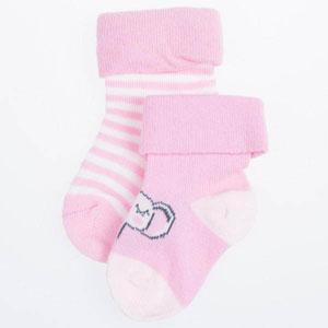 Kız Bebek Üçlü Çorap Set Koyu Pembe (14-22 numara)