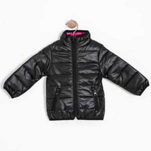 Kız Bebek Mont Siyah (56-86 cm)