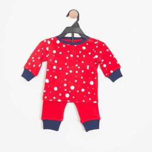 Kız Bebek Pijama Takımı Kırmızı (0-2 yaş)
