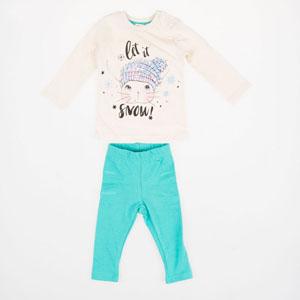 Kız Bebek Pijama Takımı Açık Gri Melanj (0-2 yaş)