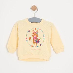 Kız Bebek Sweatshirt Sarı (0-2 yaş)