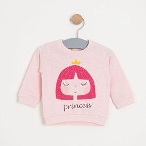 Kız Bebek Sweatshirt Toz Pembe (0-2 yaş)