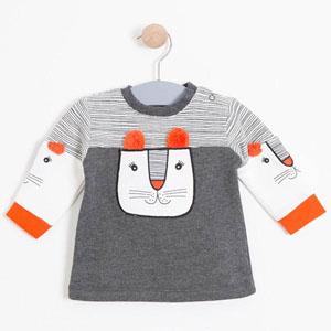 Kız Bebek Sweatshirt Antramelanj (0-2 yaş)