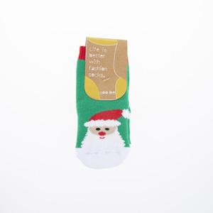 Çocuk Yılbaşı Çorabı Yeşil (19-26 numara)