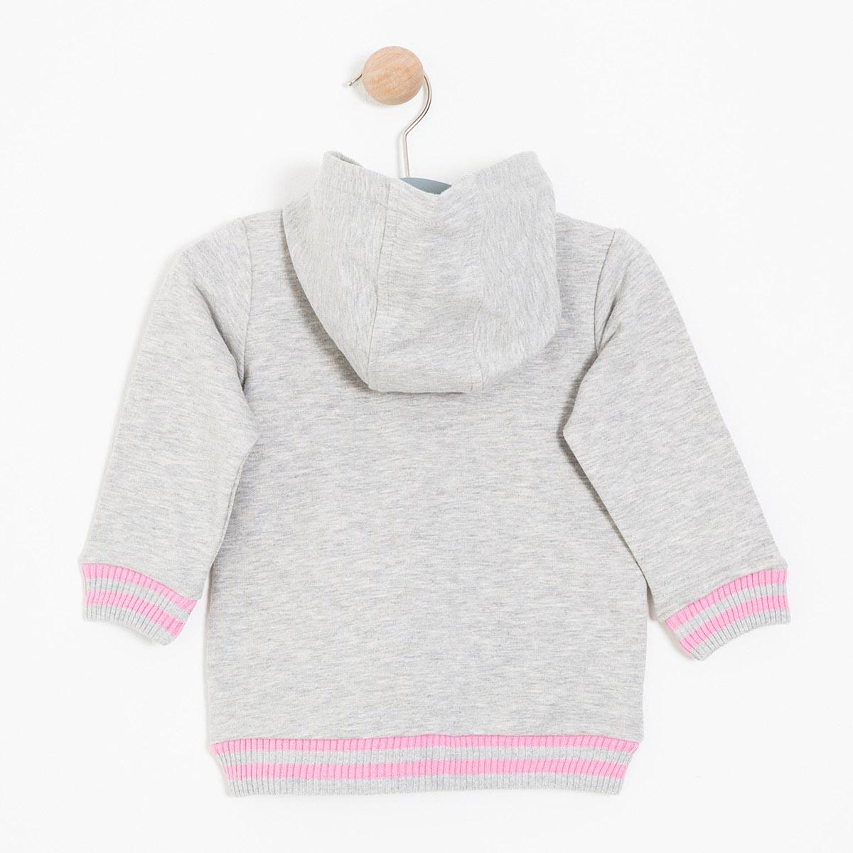 Kız Çocuk Sweatshirt Gri Melanj (1-7 yaş)