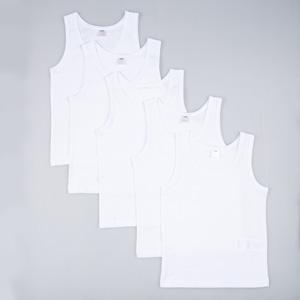 Erkek Çocuk Beşli Atlet Set Beyaz (1-12 yaş)