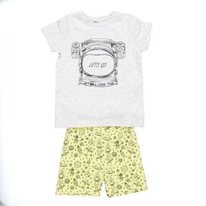 Erkek Çocuk Tişört Şort Set Sarı (3-12 yaş)