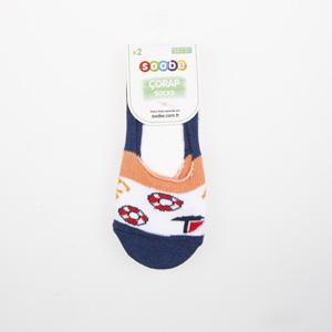 Erkek Çocuk İkili Babet Çorap Beyaz (23-34 numara)