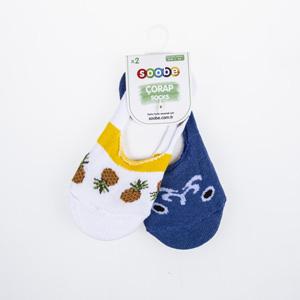 Erkek Çocuk İkili Babet Çorap Lacivert (23-34 numara)