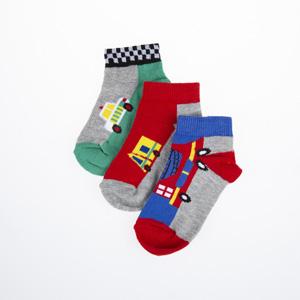 Erkek Çocuk Üçlü Patik Çorap Gri (23-34 numara)