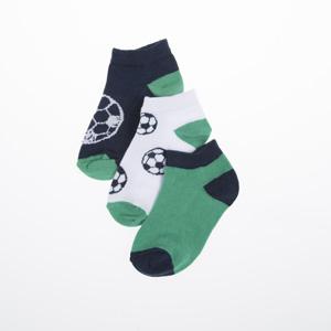 Erkek Çocuk Üçlü Çorap Yeşil (23-34 numara)