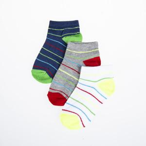 Erkek Çocuk Üçlü Patik Çorap Kırmızı (23-34 numara)