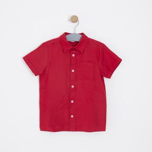 Erkek Çocuk Gömlek Kırmızı (3-12 yaş)