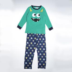 Erkek Çocuk Pijama Takımı Yeşil (3-7 yaş)