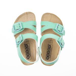 Erkek Çocuk Çift Bantlı Sandalet Yeşil (24-33 numara)