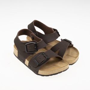 Erkek Çocuk Çift Bantlı Sandalet Kahve (24-33 numara)
