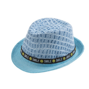 Erkek Çocuk Hasır Şapka Mavi (3-8 yaş)