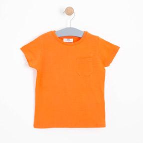 Erkek Çocuk Kısa Kol Tişört Turuncu (3-12 yaş)