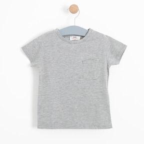 Erkek Çocuk Kısa Kol Tişört Gri Melanj (3-12 yaş)