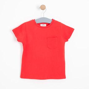 Erkek Çocuk Kısa Kol Tişört Kırmızı (3-12 yaş)