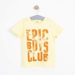 Erkek Çocuk Kısa Kol Tişört Sarı (3-12 yaş)