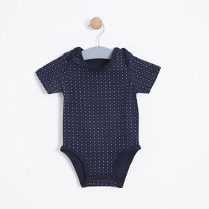 Erkek Bebek Kısa Kol Badi Antrasit (0-2 yaş)
