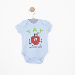 Erkek Bebek Kısa Kol Badi Mavi (0-2 yaş)
