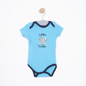 Erkek Bebek Kısa Kol Badi Turkuaz (0-2 yaş)