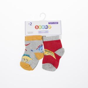 Erkek Bebek İkili Çorap Gri (14-22 numara)