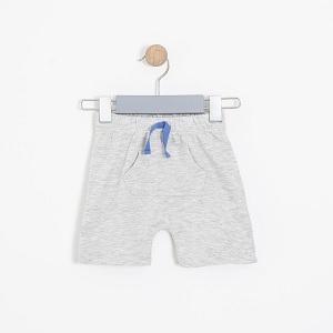 Erkek Bebek Şort Gri Melanj (56 cm-2 yaş)