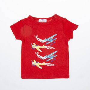 Erkek Bebek Tişört Kırmızı (56 cm-2 yaş)