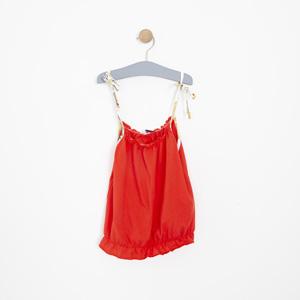 Kız Çocuk Atlet Kırmızı (3-12 yaş)