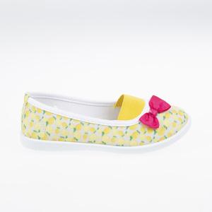 Kız Çocuk Keten Ayakkabı Sarı (26-30 numara)