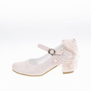 Kız Çocuk Abiye Ayakkabı Pudra (28-34 numara)