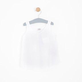 Kız Çocuk Bluz Beyaz (3-12 yaş)