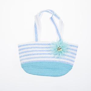 Kız Çocuk Hasır Çanta Mavi (3-9 yaş)