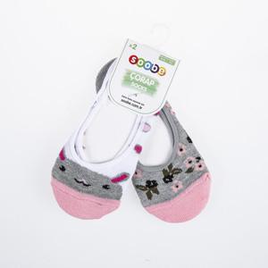 Kız Çocuk İkili Babet Çorap Gri (23-34 numara)