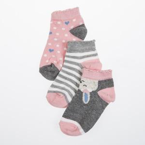 Kız Çocuk Üçlü Çorap Gri (23-34 numara)