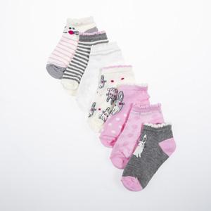 Kız Çocuk Yedili Çorap Pembe (23-34 numara)