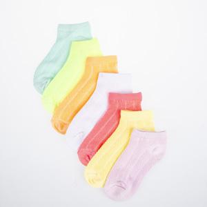 Kız Çocuk Yedili Çorap Mix (23-34 numara)