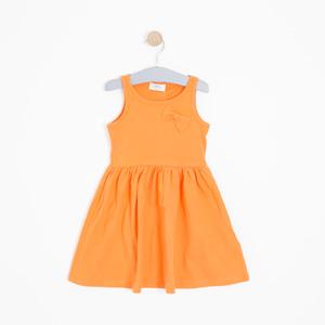 Kız Çocuk Elbise Turuncu (3-12 yaş)