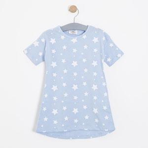 Kız Çocuk Kısa Kol Gecelik Mavi (3-12 yaş)