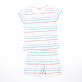 Kız Çocuk Pijama Takımı Somon (3-12 yaş)